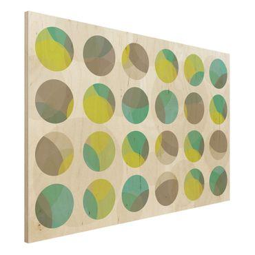 Quadro in legno - Circle Design - Orizzontale 3:2