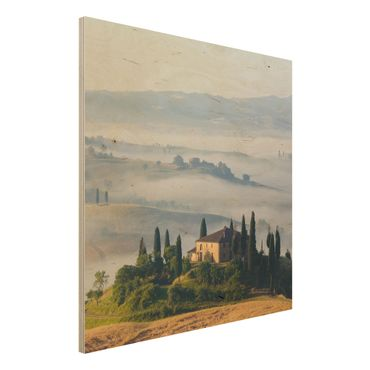 Quadro in legno - Country House in Tuscany - Quadrato 1:1