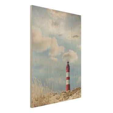 Quadro in legno - Lighthouse in the dunes - Verticale 3:4