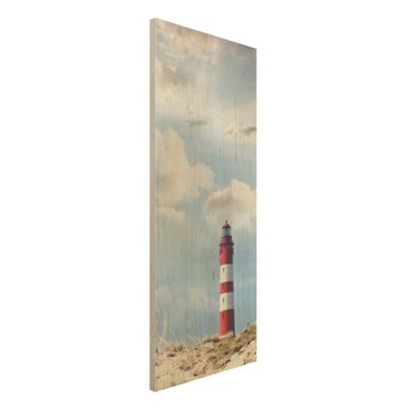 Quadro in legno - Lighthouse in the dunes - Pannello