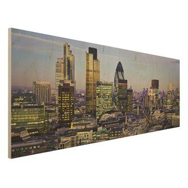 Quadro in legno - London City - Panoramico
