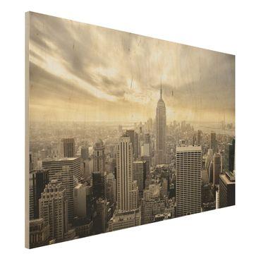 Quadro in legno - Manhattan Dawn - Orizzontale 3:2