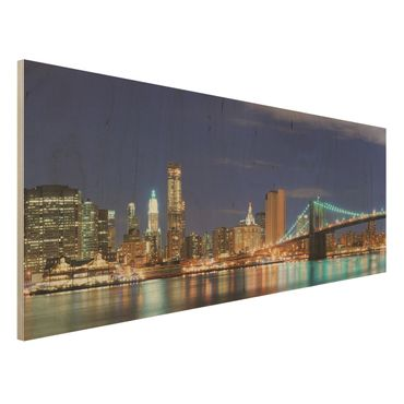 Quadro in legno - Manhattan in New York City - Panoramico