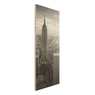 Quadro in legno - Manhattan Skyline - Pannello