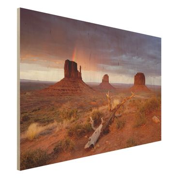 Quadro in legno - Monument Valley at sunset - Orizzontale 3:2