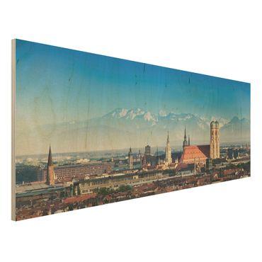 Quadro in legno - Munich - Panoramico