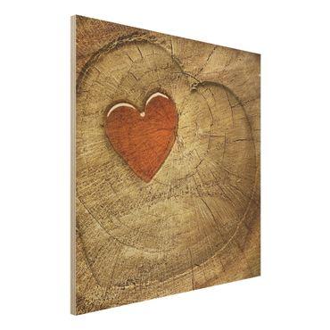 Quadro in legno - Natural Love - Quadrato 1:1