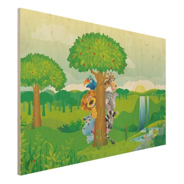 Quadro in legno - No.BF1 Jungle animals - Orizzontale 3:2