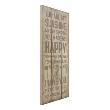Quadro in legno - No.RS182 Sunshine - Pannello