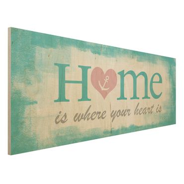 Quadro in legno - No.YK33 Home is where your Heart is - Panoramico