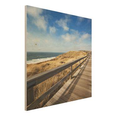 Quadro in legno - North Sea Trail - Quadrato 1:1
