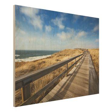 Quadro in legno - North Sea Promenade - Orizzontale 4:3