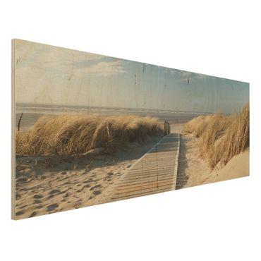 Quadro in legno - Baltic beach - Panoramico