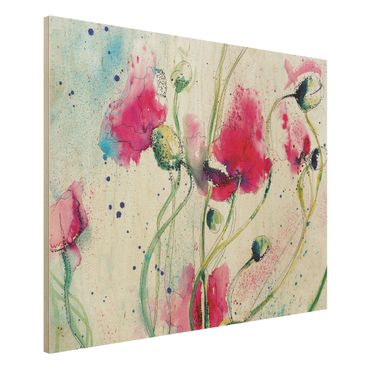 Quadro in legno - Painted Poppies - Orizzontale 4:3