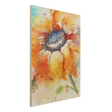 Quadro in legno - Painted Sunflower - Verticale 3:4