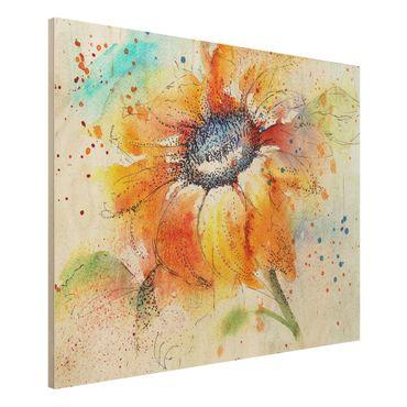 Quadro in legno - Painted Sunflower - Orizzontale 4:3