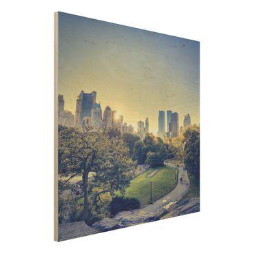 Quadro in legno - Peaceful Central Park - Quadrato 1:1