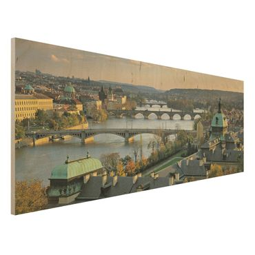 Quadro in legno - Prague - Panoramico