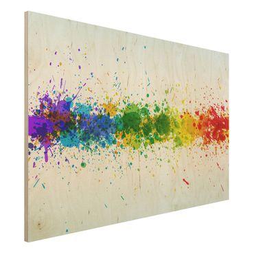Quadro in legno - Rainbow Splatter - Orizzontale 3:2