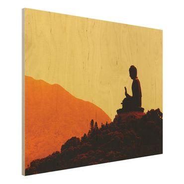 Quadro in legno - Resting Buddha - Orizzontale 4:3