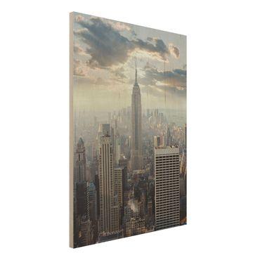 Quadro in legno - Sunrise in New York - Verticale 3:4