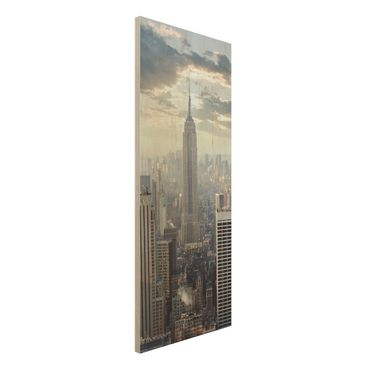 Quadro in legno - Sunrise in New York - Pannello