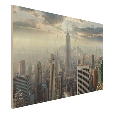 Quadro in legno - Sunrise in New York - Orizzontale 3:2