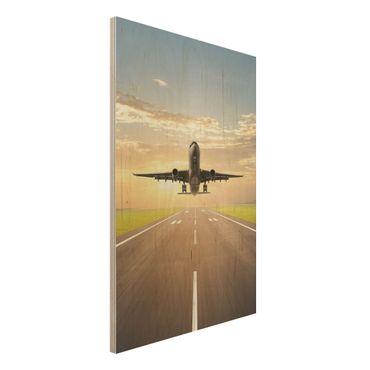 Quadro in legno - Starting Airplane - Verticale 2:3