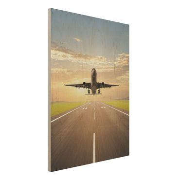 Quadro in legno - Starting Airplane - Verticale 3:4