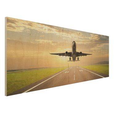 Quadro in legno - Starting Airplane - Panoramico