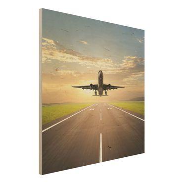 Quadro in legno - Starting Airplane - Quadrato 1:1