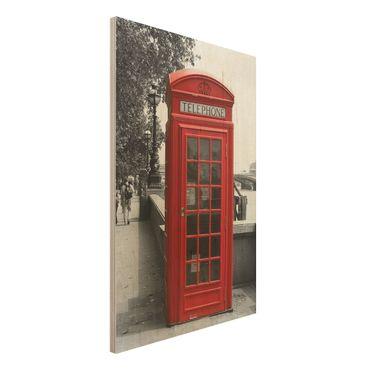Quadro in legno - Telephone - Verticale 2:3
