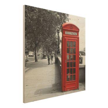 Quadro in legno - Telephone - Quadrato 1:1