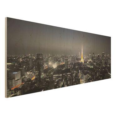 Quadro in legno - Tokyo - Panoramico