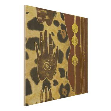 Quadro in legno - Touch of Africa - Quadrato 1:1