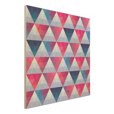 Quadro in legno - Triangle pattern design - Quadrato 1:1