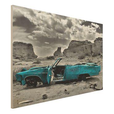 Quadro in legno - Turqouise Cadillac - Orizzontale 3:2