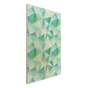 Quadro in legno - Vector pattern turquoise - Verticale 2:3