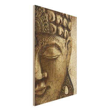 Quadro in legno - Vintage Buddha - Verticale 2:3