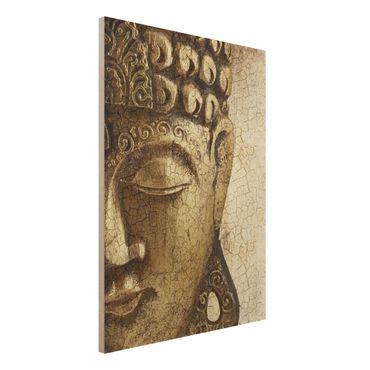Quadro in legno - Vintage Buddha - Verticale 3:4