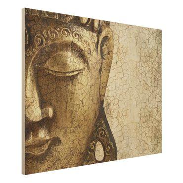 Quadro in legno - Vintage Buddha - Orizzontale 4:3