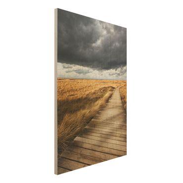 Quadro in legno - Way in the dunes - Verticale 2:3