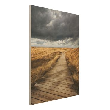 Quadro in legno - Way in the dunes - Verticale 3:4