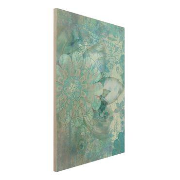 Quadro in legno - Winter flowers - Verticale 2:3