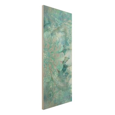 Quadro in legno - Winter flowers - Pannello