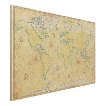 Quadro in legno - World Map - Orizzontale 3:2
