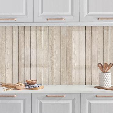 Rivestimento cucina - Tavole di legno di quercia chiaro