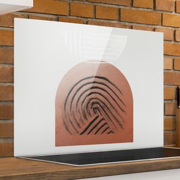 Paraschizzi in vetro - Geometria di argilla indigena - Formato orizzontale 4:3