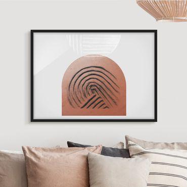 Poster con cornice - Geometria di argilla indigena