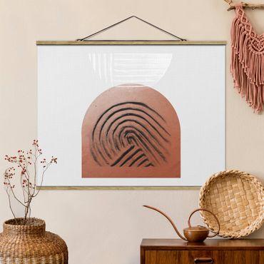 Foto su tessuto da parete con bastone - Geometria di argilla indigena - Orizzontale 4:3